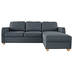 Debenhams - Flat weave fabric 'Dante' right-hand facing chaise corner sofa bed