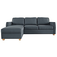 Debenhams - Flat weave fabric 'Dante' left-hand facing chaise corner sofa bed