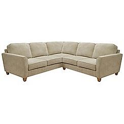 Debenhams - Velour 'Dante' corner sofa