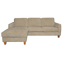 Debenhams - Velour 'Dante' left-hand facing chaise corner sofa