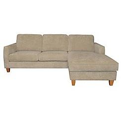 Debenhams - Velour 'Dante' right-hand facing chaise corner sofa bed