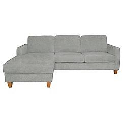 Debenhams - Velour 'Dante' left-hand facing chaise corner sofa bed