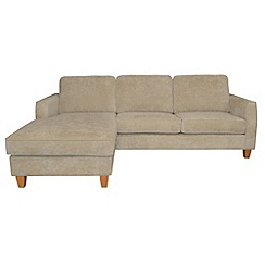 Debenhams - Velour 'Dante' left-hand facing chaise corner sofa bed