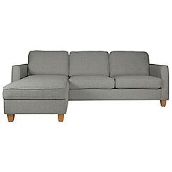 Debenhams - Textured 'Dante' left-hand facing chaise corner sofa