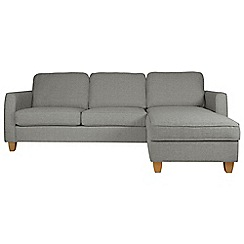 Debenhams - Textured 'Dante' right-hand facing chaise corner sofa bed