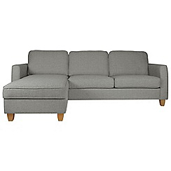 Debenhams - Textured 'Dante' left-hand facing chaise corner sofa bed