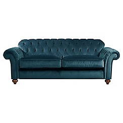 Debenhams - Large velvet 'Bloomsbury Chesterfield' button back sofa