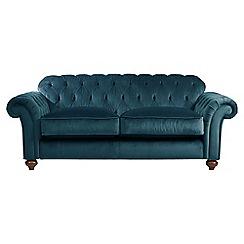 Debenhams - Medium velvet 'Bloomsbury Chesterfield' button back sofa