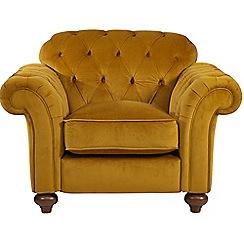 Debenhams - Velvet 'Bloomsbury Chesterfield' button back armchair