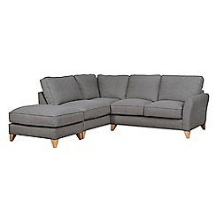 Debenhams - Textured 'Fyfield' left-hand facing chaise corner sofa