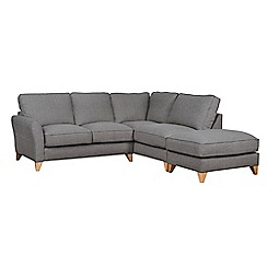 Debenhams - Textured 'Fyfield' right-hand facing chaise corner sofa