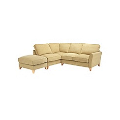 Debenhams - Velour 'Fyfield' left-hand facing chaise corner sofa