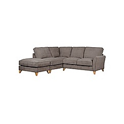 Debenhams - Velour 'Fyfield' left-hand facing chaise corner sofa