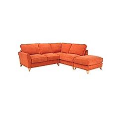 Debenhams - Velour 'Fyfield' right-hand facing chaise corner sofa