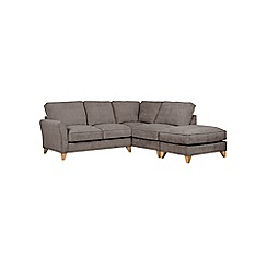 Debenhams - Velour 'Fyfield' right-hand facing chaise corner sofa