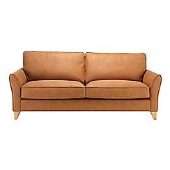 Debenhams - Extra-large leather-look 'Fyfield' sofa