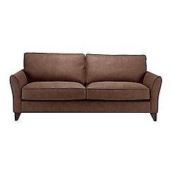 Debenhams - Extra-large leather-look 'Fyfield' sofa