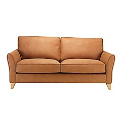 Debenhams - Large leather-look 'Fyfield' sofa