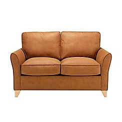 Debenhams - Medium leather-look 'Fyfield' sofa