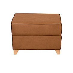Debenhams - Leather-look 'Fyfield' footstool