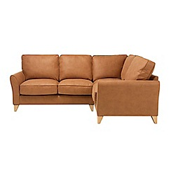 Debenhams - Leather-look 'Fyfield' right-hand facing corner sofa
