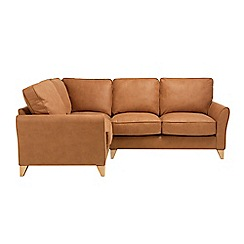 Debenhams - Leather-look 'Fyfield' left-hand facing corner sofa