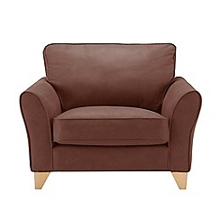 Debenhams - Leather-look 'Fyfield' loveseat