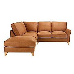 Debenhams - Leather-look 'Fyfield' right-hand facing chaise corner sofa
