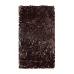 Debenhams - Dark brown 'Footsie' rug
