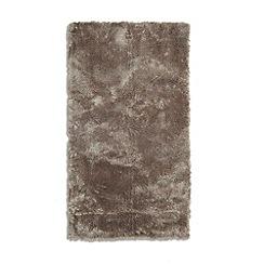 Debenhams - Taupe 'Footsie' rug