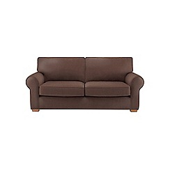 Debenhams - Large leather-look 'Charles' sofa