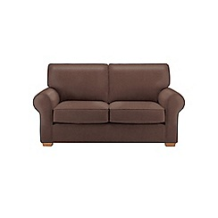 Debenhams - Medium leather-look 'Charles' sofa