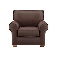 Debenhams - Leather-look 'Charles' armchair