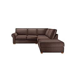 Debenhams - Leather-look 'Charles' right-hand facing corner sofa