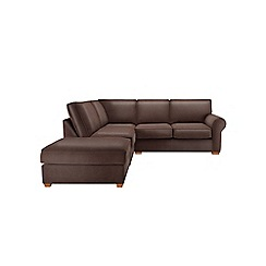 Debenhams - Leather-look 'Charles' left-hand facing corner sofa