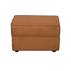 Debenhams - Leather-look 'Charles' footstool