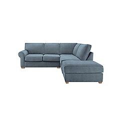 Debenhams - Textured 'Charles' right-hand facing corner sofa