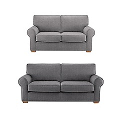 Debenhams - Set of large and medium textured 'Charles' sofas