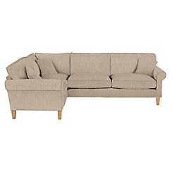 Debenhams - Textured 'Delta' left-hand facing corner sofa