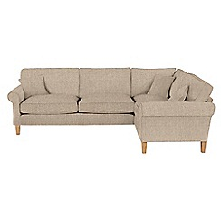 Debenhams - Textured 'Delta' right-hand facing corner sofa