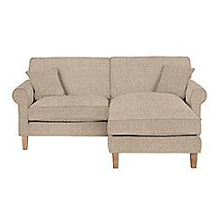 Debenhams - Textured 'Delta' chaise corner sofa