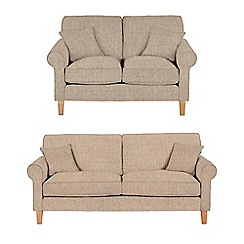 Debenhams - Set of large and medium textured 'Delta' sofas
