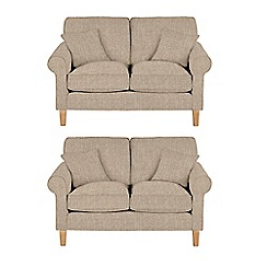 Debenhams - Set of 2 medium textured 'Delta' sofas
