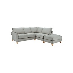 Debenhams - Flat weave 'Fyfield' right-hand facing chaise corner sofa