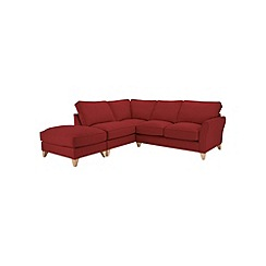 Debenhams - Flat weave 'Fyfield' left-hand facing chaise corner sofa