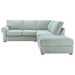 Debenhams - Flat weave fabric 'Charles' right-hand facing corner sofa
