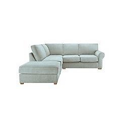 Debenhams - Flat weave fabric 'Charles' left-hand facing corner sofa