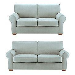 Debenhams - Set of large and medium flat weave fabric 'Charles' sofas