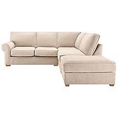 Debenhams - Velour 'Charles' right-hand facing corner sofa