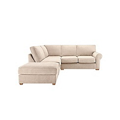 Debenhams - Velour 'Charles' left-hand facing corner sofa